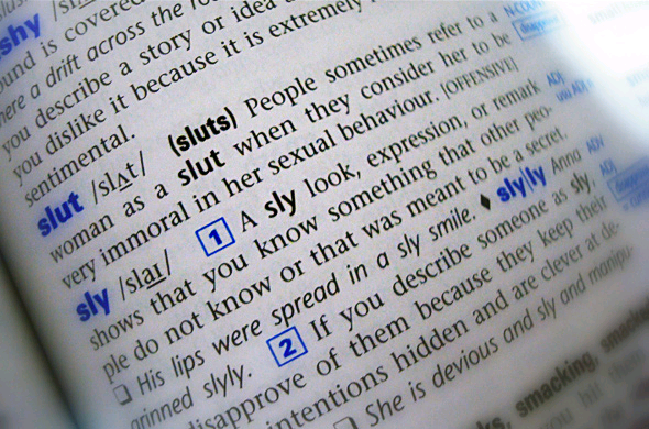 Definition of the word slut — 3