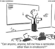 semi colon joke